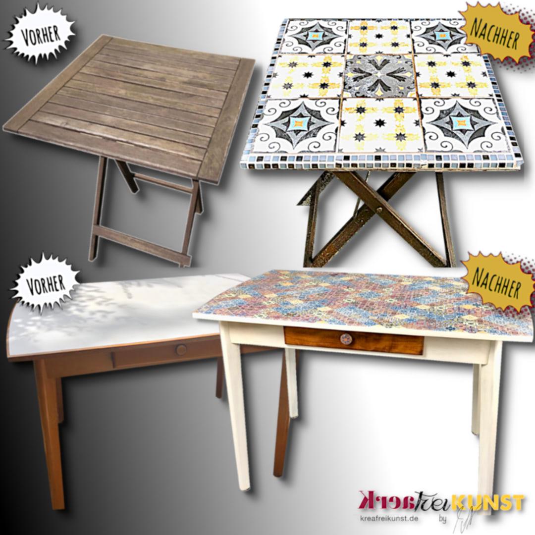 Mobiliar Vorher Nachher Tische Aus Holz